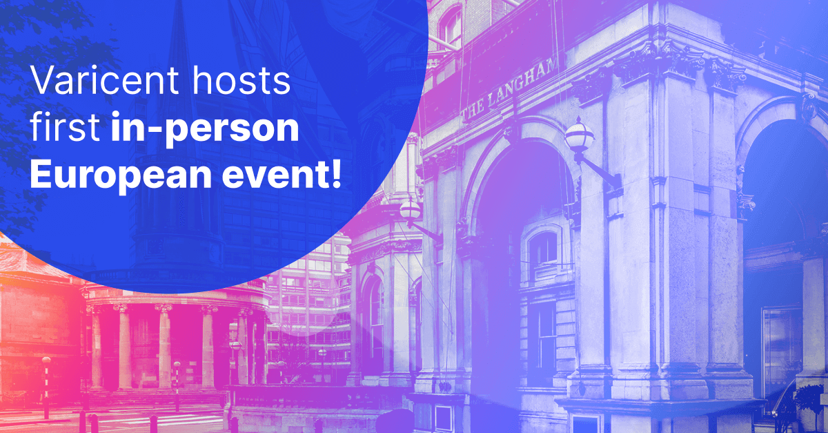 Varicent Elevate is Varicent's first in-person event for the EMEA market